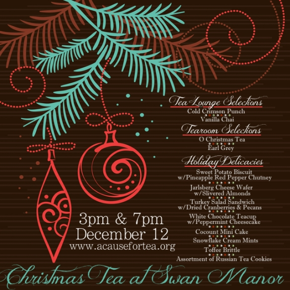 Christmas Tea Menu 2015 Graphic
